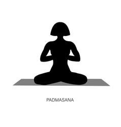 woman in ardha padmasana or yoga lotus pose vector image