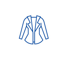 women jacket line icon concept women jacket flat vector image