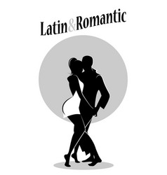 Young couple dancing bachata bn-02 vector