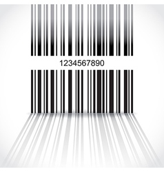 Barcode background vector image vector image