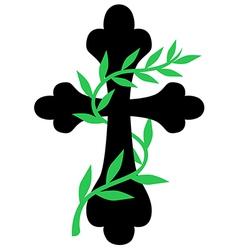 cross vine vector image