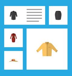 Flat icon garment set of clothes banyan elegant vector