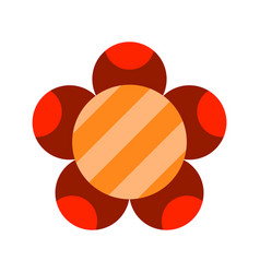 Flat icon of a flower colored object on a white vector