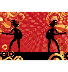 Girls playing guitars vector image
