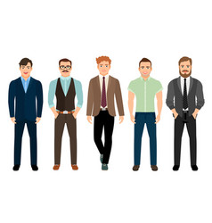 handsome men in business formal style vector image