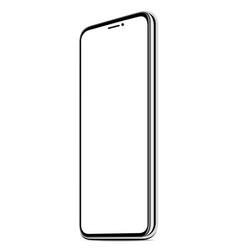 new smart phone white screen realistic isolated vector image