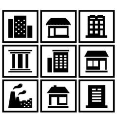 set modern urban building vector image vector image