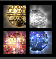 disco ball discotheque card music party night club vector image