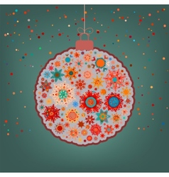 fancy multicolor christmas ball eps 8 vector image vector image