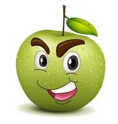 Happy apple smiley vector