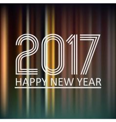 happy new year 2017 on dark color night lines vector image vector image