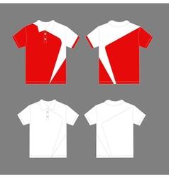 Modern polo shirt design vector image vector image