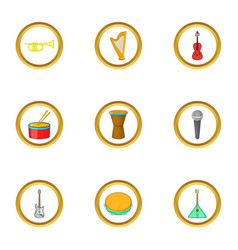 orchestra icons set cartoon style vector image
