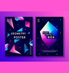 set of abstract trendy cosmic posters vector image