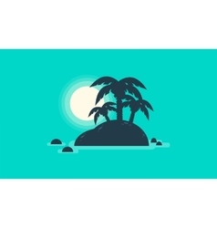 Silhouette of beautiful islands landscape vector
