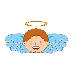 angel boy character icon vector image vector image