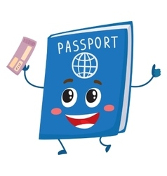 Cute and funny passport identity document vector image vector image