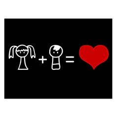 Love mathematics vector image