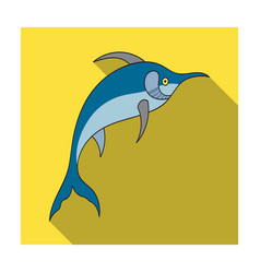 marlin fish icon in flat style isolated on white vector image vector image
