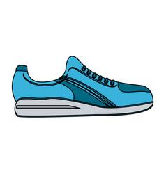 single sneaker sport shoe icon image vector image
