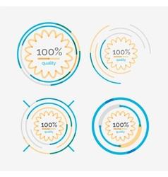 Thin line neat design logo set premium quality vector image vector image