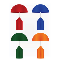 colorful lamp set vector image
