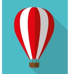 Hot air balloon graphic icon vector image vector image