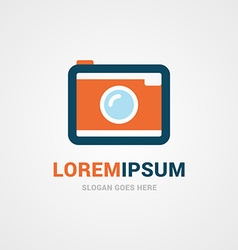 Logo Template Simple Camera Logo for Photographer vector image