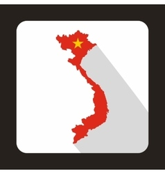 Map of Vietnam icon flat style vector image vector image