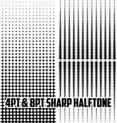 4pt 8pt halftone set vector image