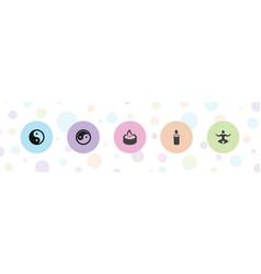 5 spiritual icons vector
