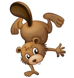A playful beaver vector image