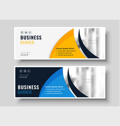 abstract banner design in creative style vector image