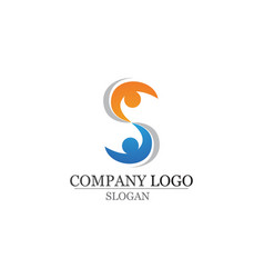 Adoption and community care logo template icons vector