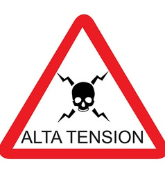 Alta tension vector image
