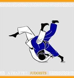Athlete judoists vector