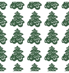 Background of Christmas trees vector