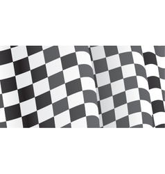 Background with waving racing Flag vector image