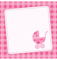 bagirl announcement card vector image