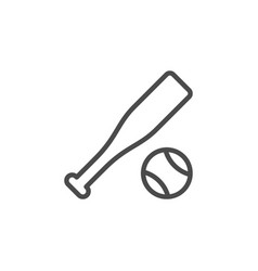 baseball inventory line outline icon vector image
