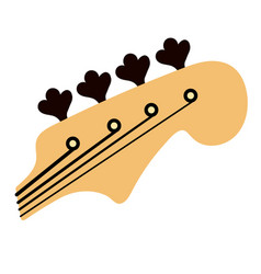 Bass guitar logo vector