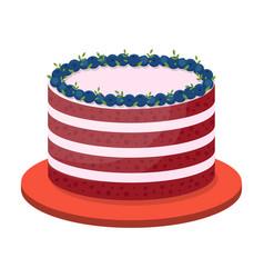 birthday cake on white background vector image