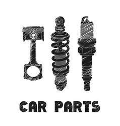 Car parts vector