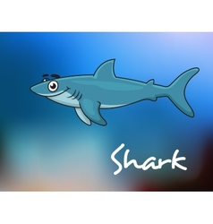 Cartoon shark in sea vector