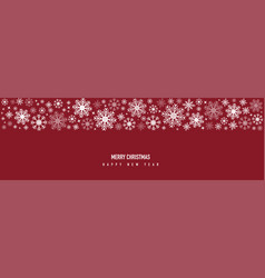 christmas decoration with snowflake and star vector image