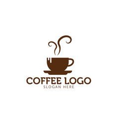 coffee logo icon template vector image