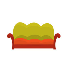 colorful vintage sofa living room or office vector image vector image