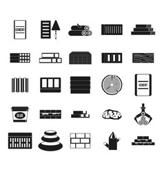 Construction materials icon set simple style vector