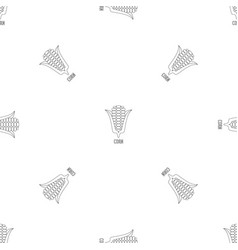 corn pattern seamless vector image