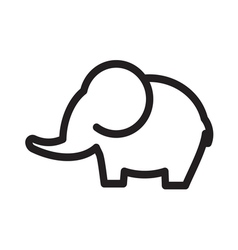 Elephant simple line vector